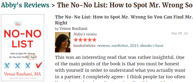 GoodReads Review By Abbey